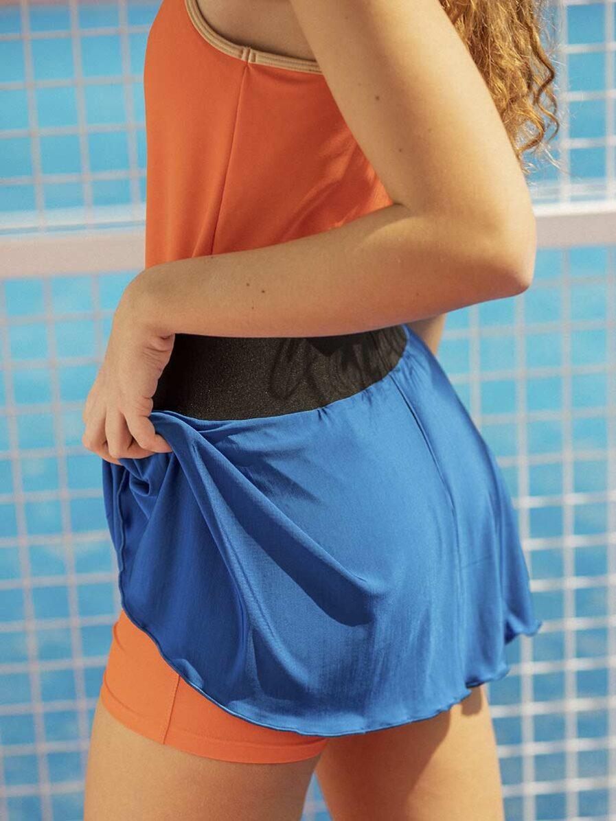 Gonnellino sportivo blu da Padel