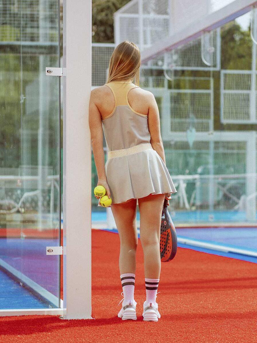 Gonnellino sportivo da Padel color cenere